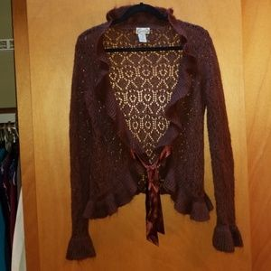 Womens sweater with lace pattern